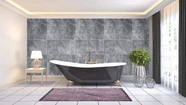 large tile grey premium 1m shower wall panelling