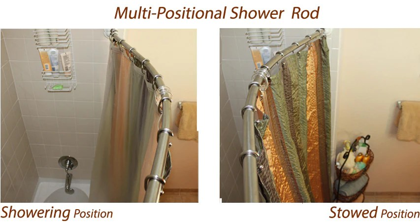 straight vs curved shower rods and