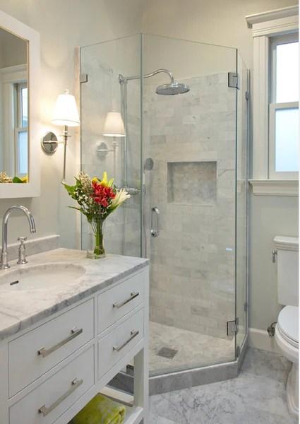 Small Bathroom Ideas: Shower Spaces - Rotator Rod on Small Space Small Bathroom Ideas With Tub And Shower id=19287