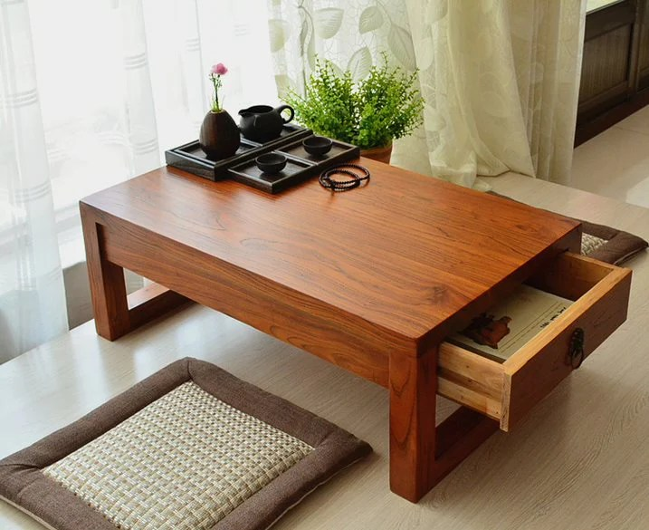simple and modern design coffee table thick table legs