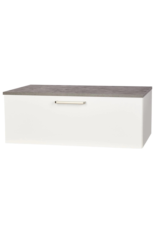 Nobilia Meuble Sous Vasque Salle De Bain Tiroir 60cm 80cm Blanc Top Shelf De