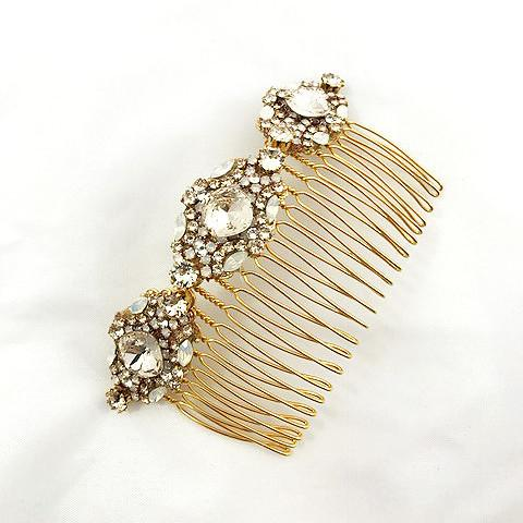 Lindsie Gold comb Haute bride Happily Ever Borrowed