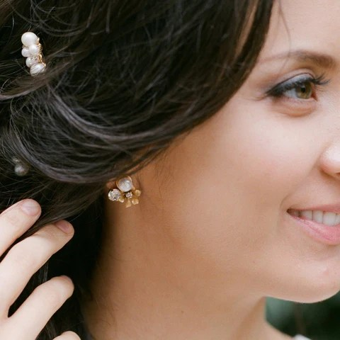 posy earrings bekah anne happily ever borrowed