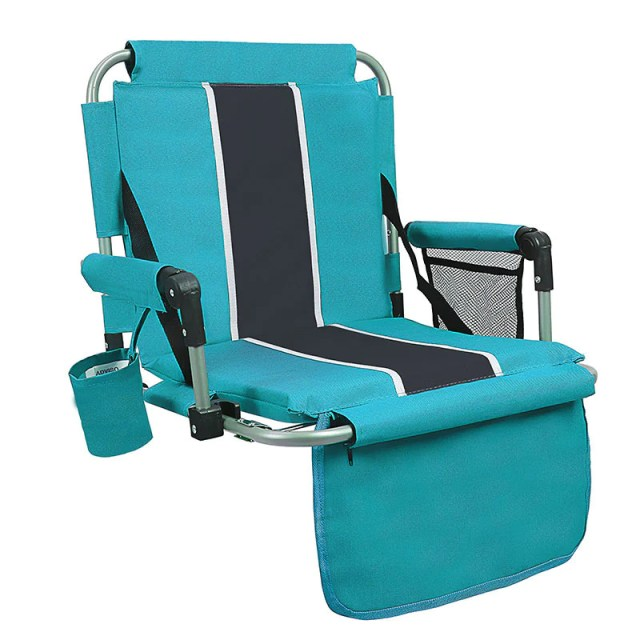 Alpha Camp Folding Stadium Chair with Back? Arm Rest-Green