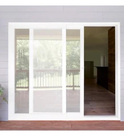 installed pella 250 white vinyl series sliding patio door starting 2 270 00