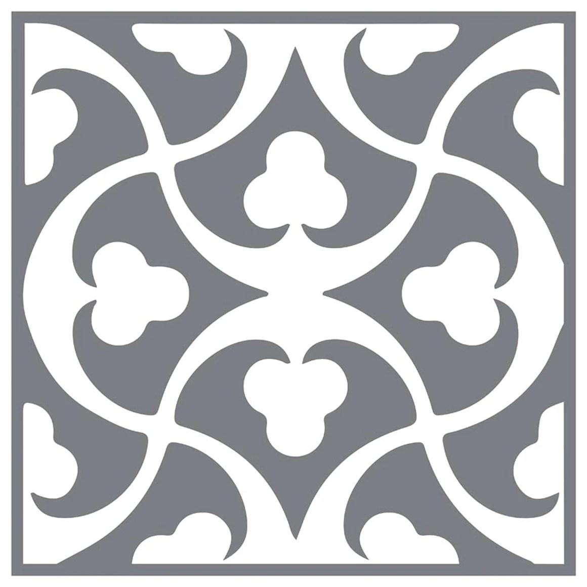 mesh stencil floor tile clubs 12x12