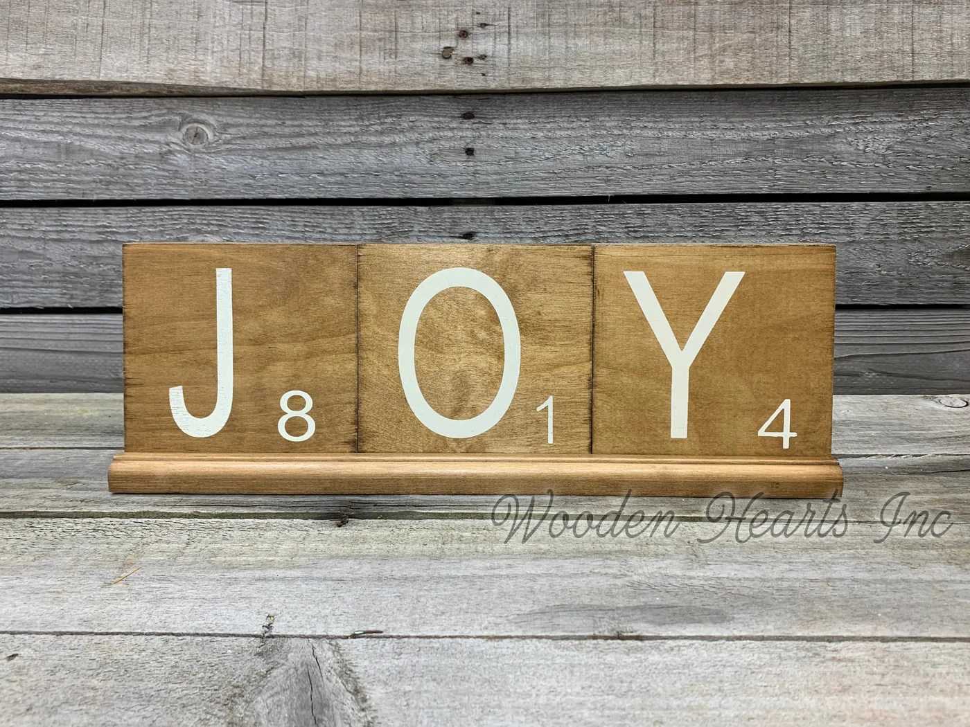 scrabble tile holder only holds our