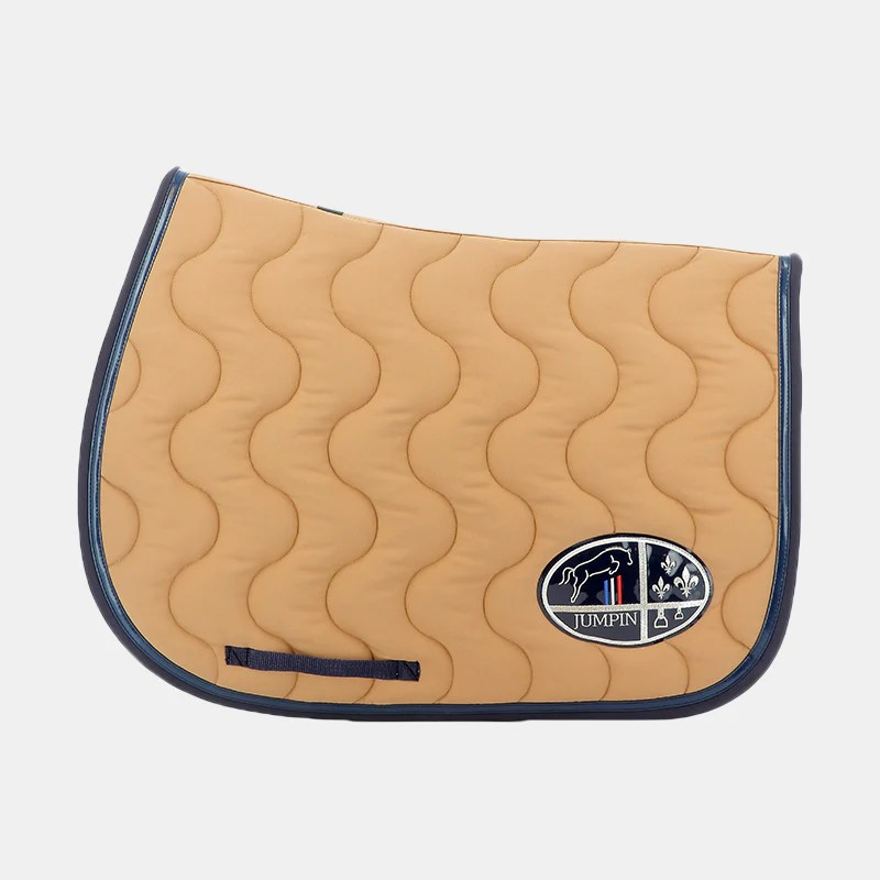 https ohlala sellerie com products jumpin tapis de selle beige marine marine