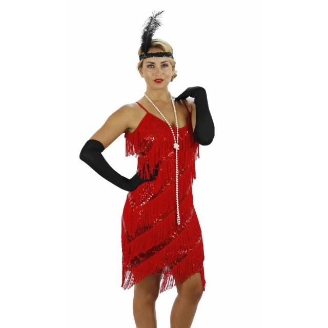 Red Fringe Flapper Dress - Flapper Boutique