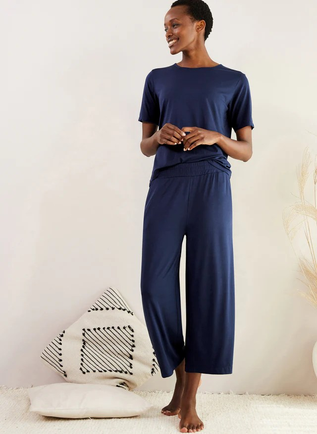 Peace Lyocell Cropped Trousers