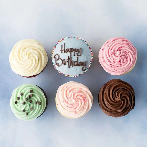 Crave Cupcakes Happy Birthday Cupcake Half Dozen