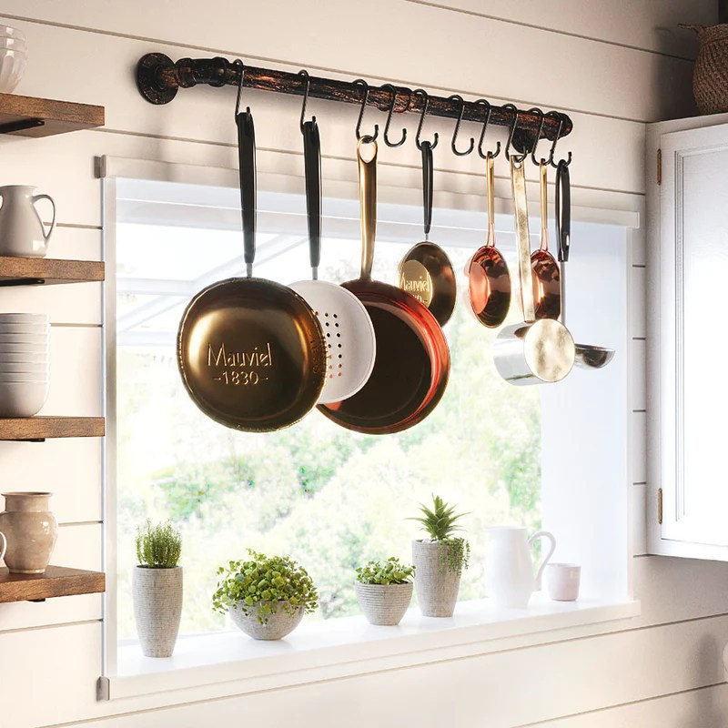 racks holders new s hooks kitchen pot pan hanging hanger clothes storage rack home furniture diy