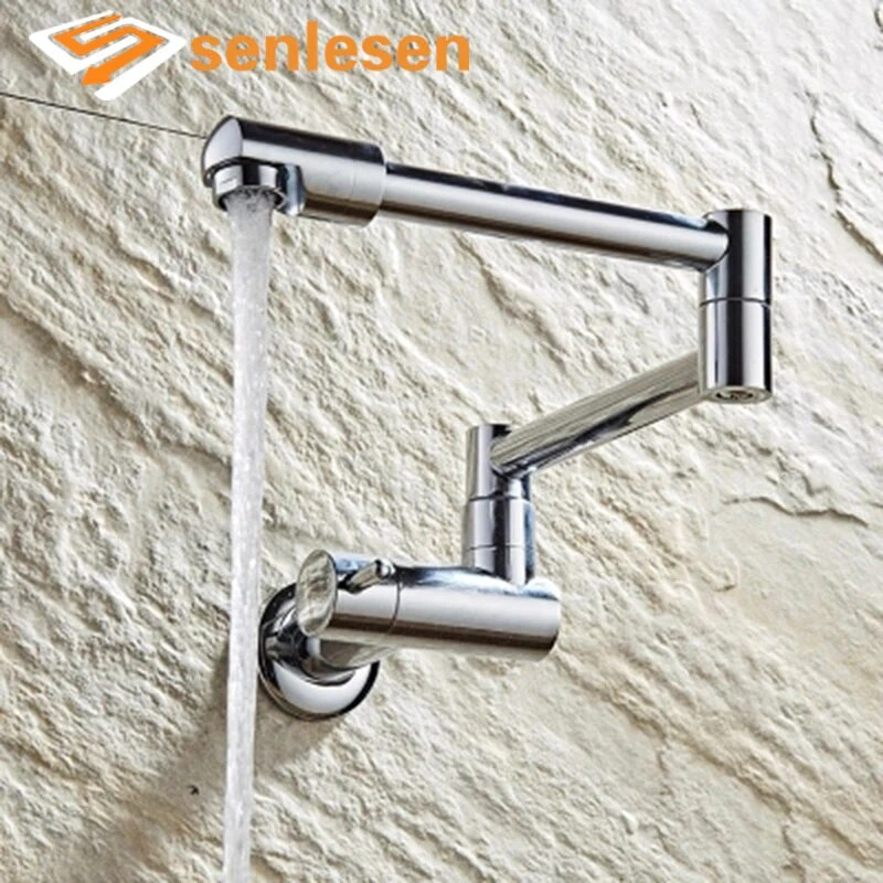 wholesale and retail wall mounted kitchen sink faucet golden single le
