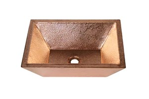 sinks in polished copper pc finish