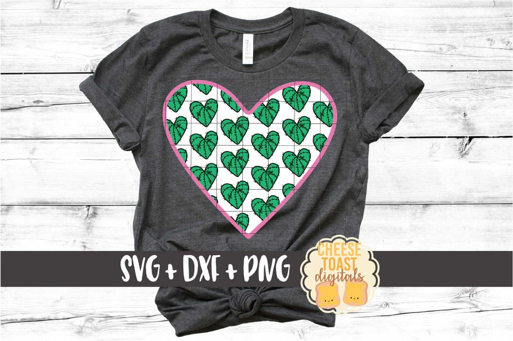 Download Cactus Pattern Heart SVG - Free and Premium SVG Files ...