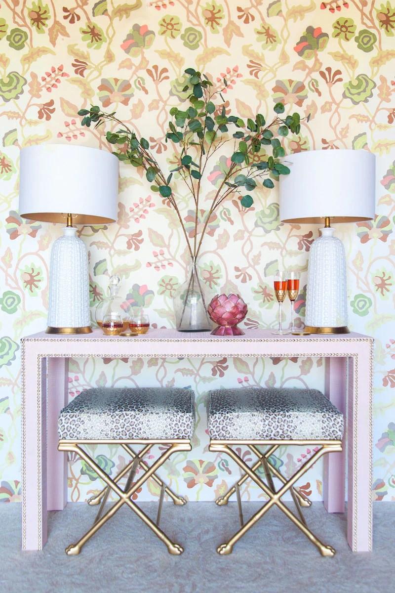 Cloth Flowers Decorating Lamp