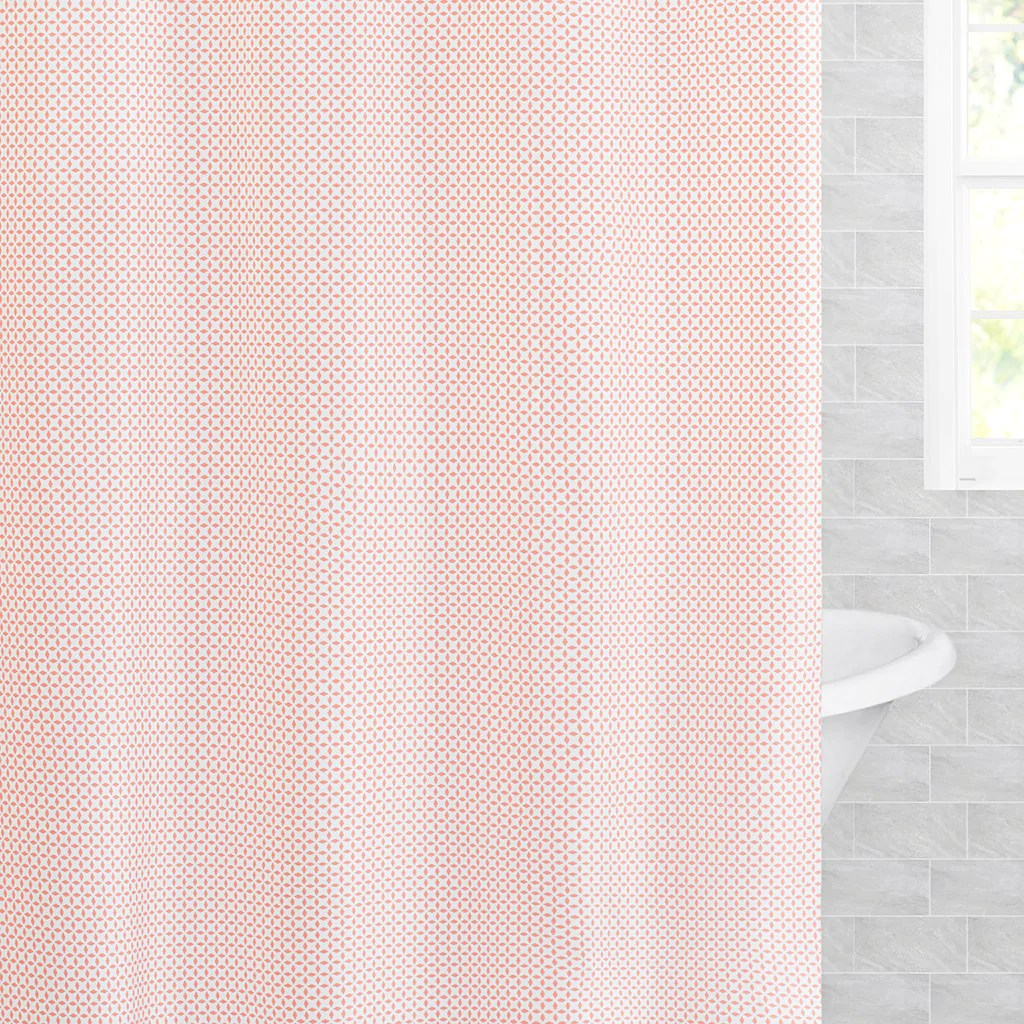 the coral morning glory shower curtain