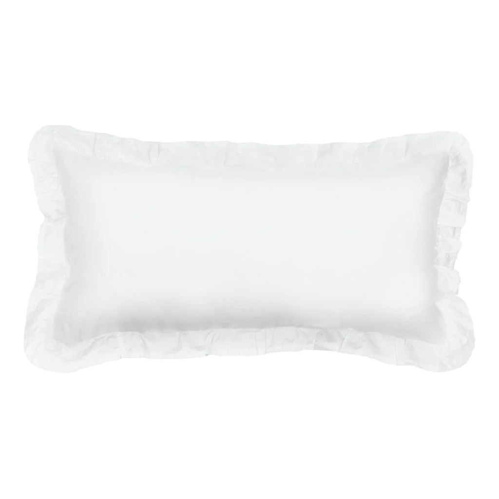 the soft white vienna throw pillow