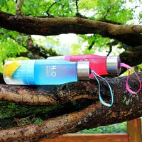 H2O Bouteille à infusion de fuit détox avec de l'eau, bleu et rouge, bouteille d'eau infuseur de fruits infusion infusé meilleur