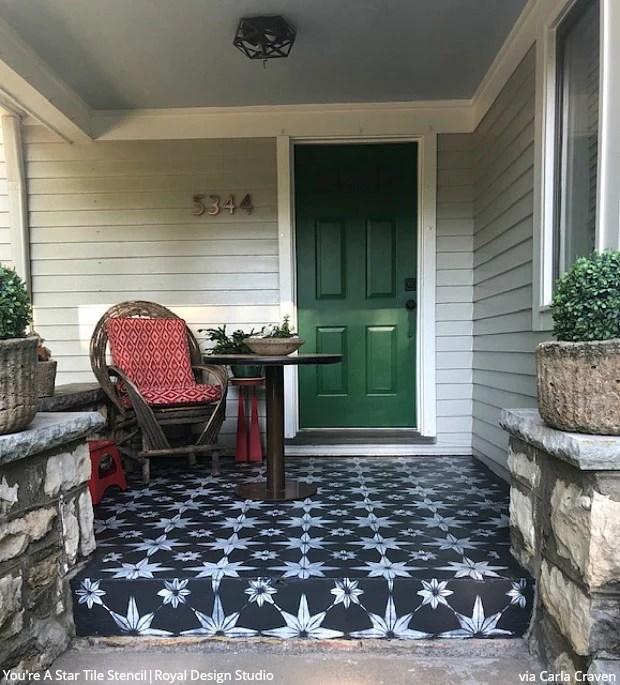 front porch floor designs