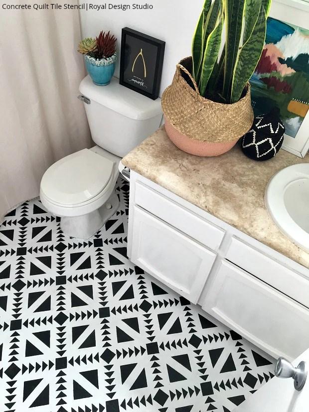 white bathroom floor tiles diy decor