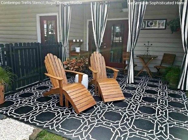 diy decorating ideas for stenciling a