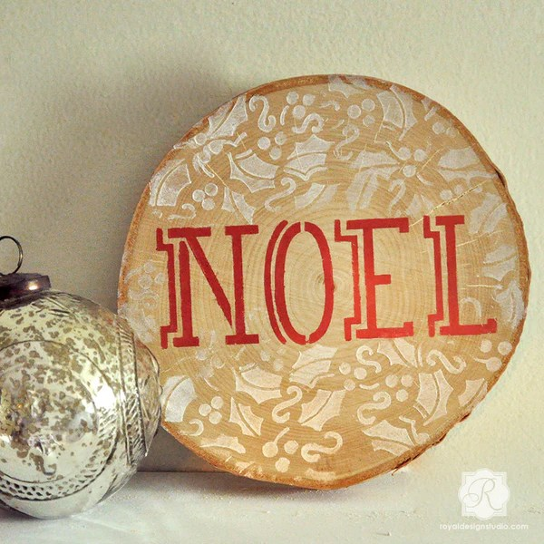 Noel Letter Typography Holiday Craft Stencils Diy