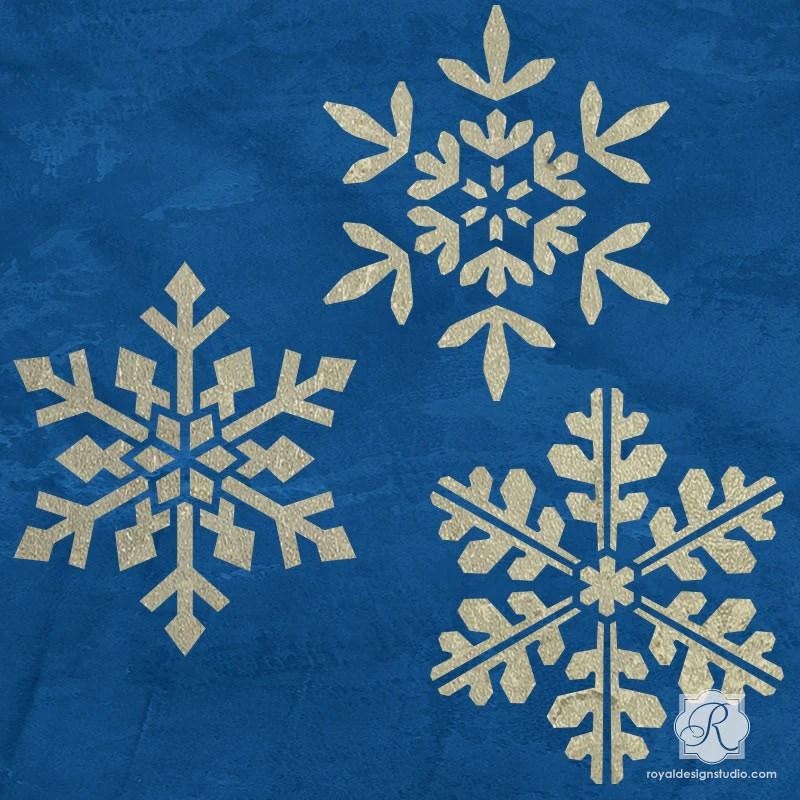 Snowflake Floral Star Tile Furniture Craft Stencils
