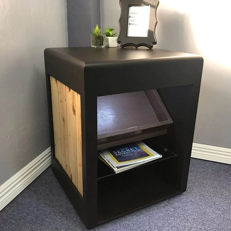 side table corner table with hidden compartment
