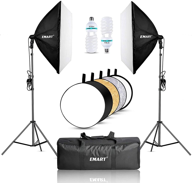 emart 900w softbox lighting kit photography
