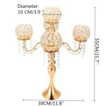 Elegant Gold Silver Candle Holders Wedding Table Decoration Metal Crys Ditch The Planner