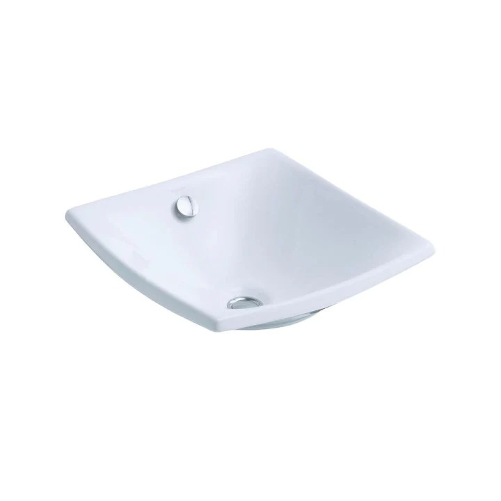 kohler sink escale square vessel with overflow in white waradly com