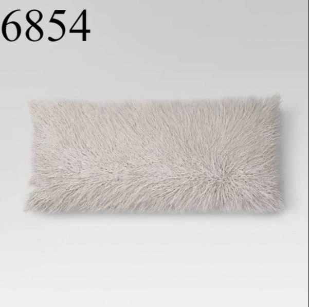 set of 2 faux fur body pillow gray opalhouse target 50 x 20 x 5 new in box