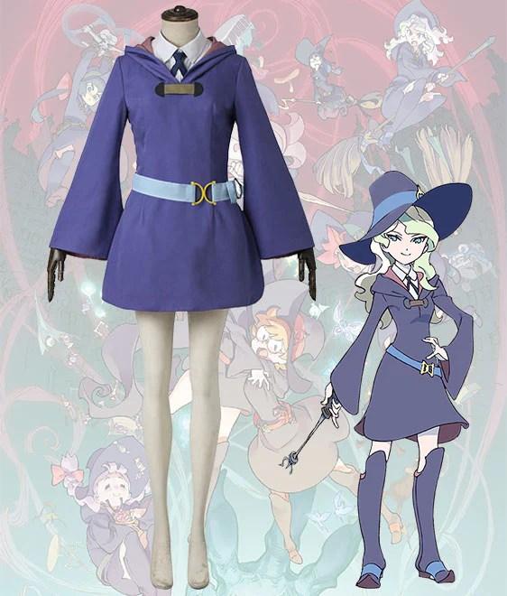 Little Witch Academia Diana Cavendish School Uniform Cosplay Costume