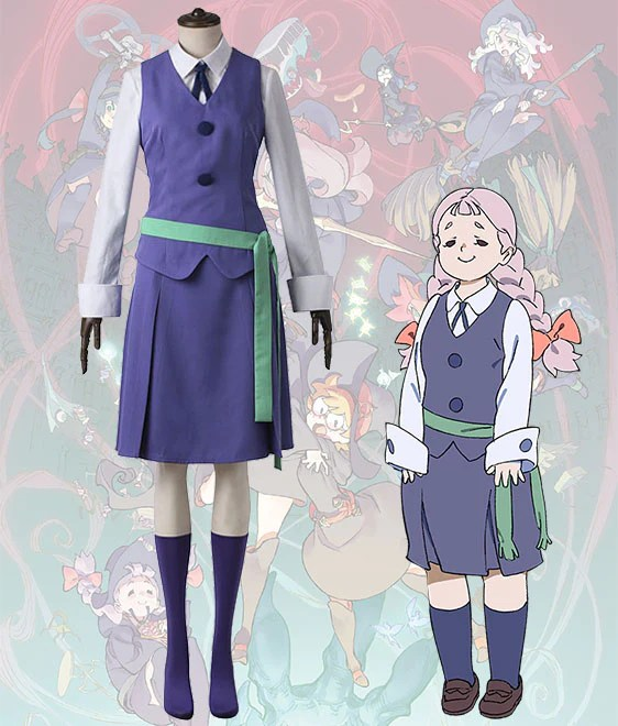 Little Witch Academia Jasminka Antonenko Amanda O'Neill Summer School Uniform Cosplay Costume