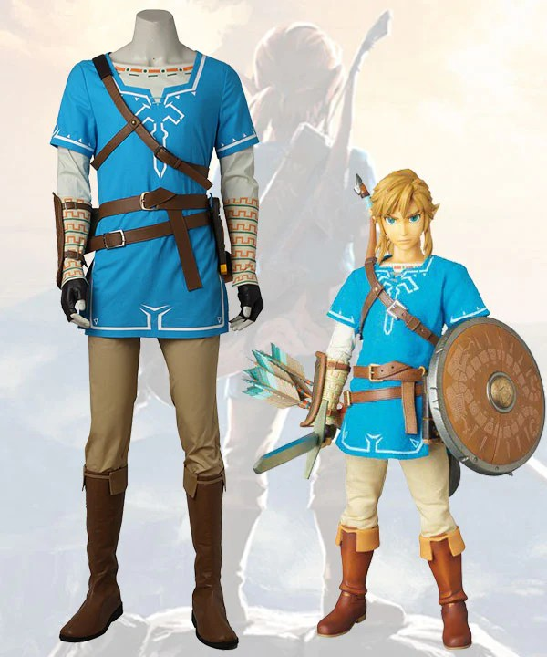 The Legend of Zelda: Breath of the Wild Link Cosplay Costume - No Boots