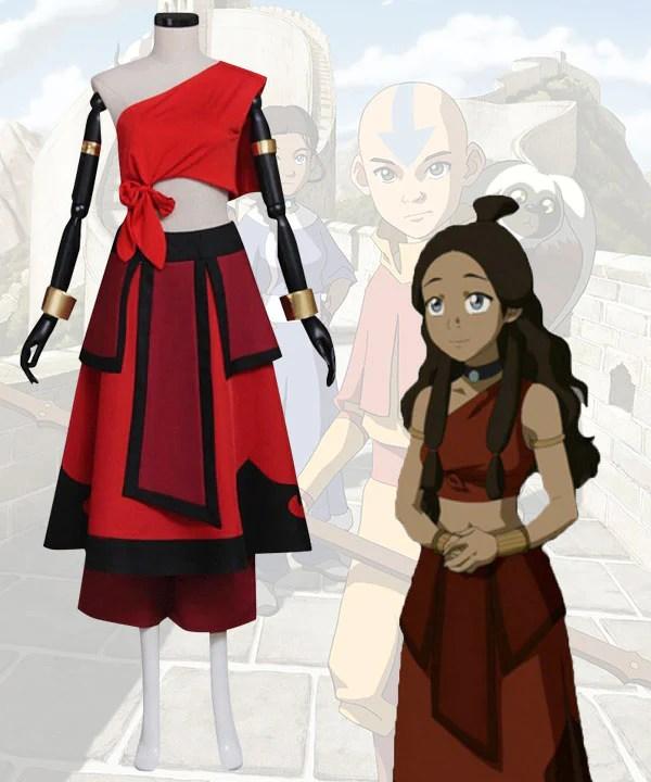 Avatar Legend of Korra Katara Red Cosplay Costume