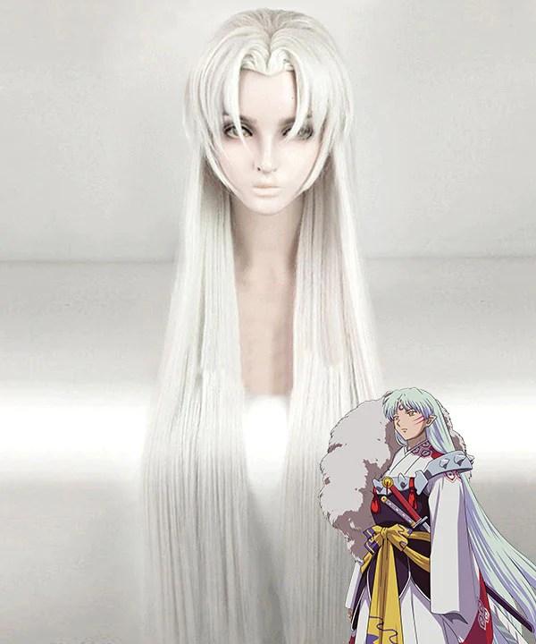 Inuyasha Sesshomaru Silver White Cosplay Wig