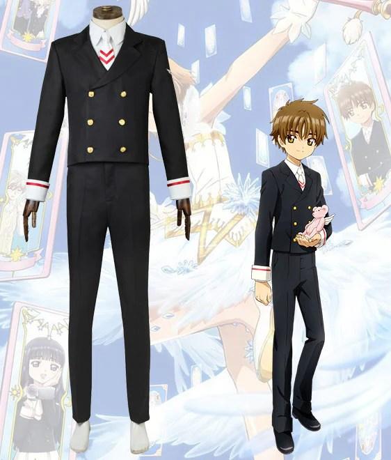 Cardcaptor Sakura: Clear Card Syaoran Li School Uniform Cosplay Costume