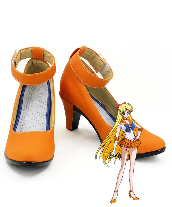 Sailor Moon Minako Aino Sailor Venus Orange Cosplay Shoes