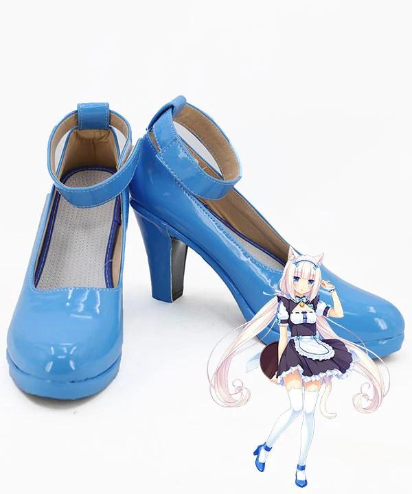 Nekopara Vanilla Blue Cosplay Shoes