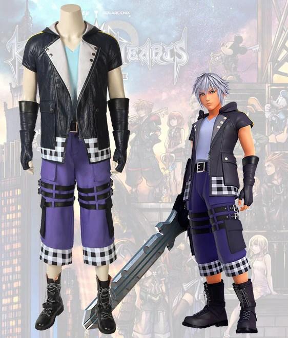 Kingdom Hearts III Riku Cosplay Costume