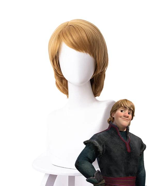 Disney Frozen 2 Kristoff Brown Cosplay Wig - 336F