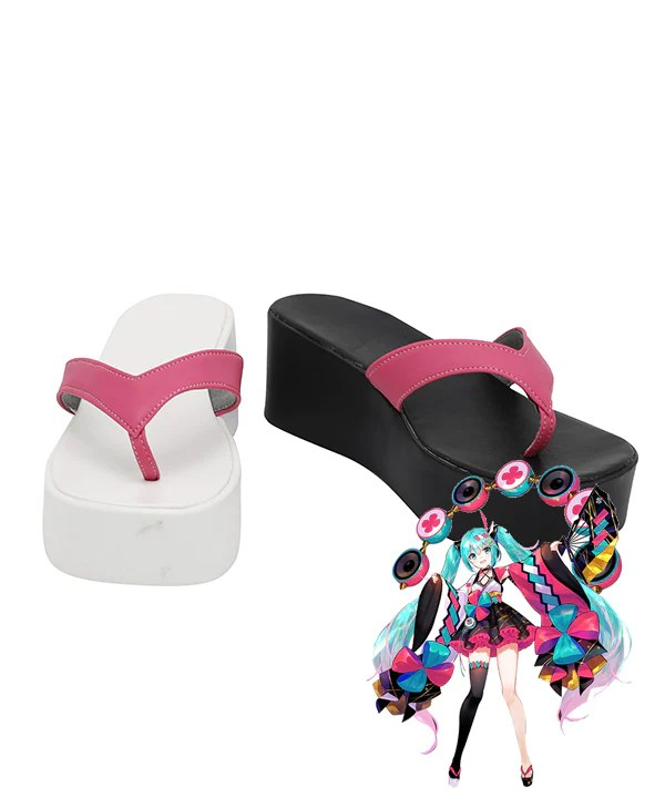 Vocaloid Hatsune Miku 2020 Magical Mirai Black White Cosplay Shoes