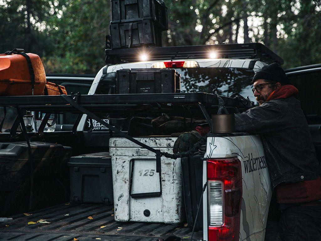 ford f150 f250 f350 pickup 1997 current slimline ii load bed rack kit