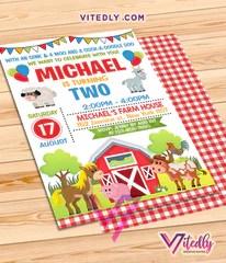 farm theme party invitations vitedly