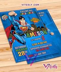 superman birthday invitations with free