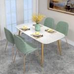 Modern Minimalist Marble Gold Dining Table Urban Mood