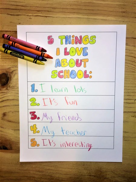 5 Things I Love About My Teacher Amp School Childrens