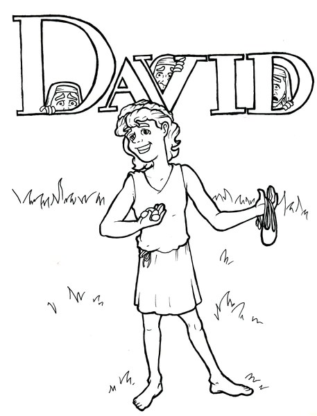 david coloring page – children's ministry deals